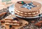 Kruchy piernikowy tort z kremem