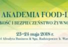 PFPŻ: VII Akademia FOOD-LEX – jakość i bezpieczeństwo żywności