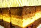 Kostka piernikowo czekoladowa z czarną porzeczką