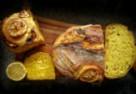 Chleb z kurkumą i cytryną
